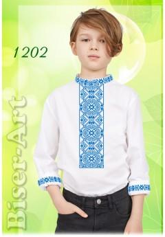 Заготовка для вишивки Хлопчачої сорочки, льон білий (1202)