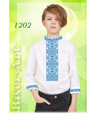 Пошита хлопчача сорочка, білий габардин (11202)