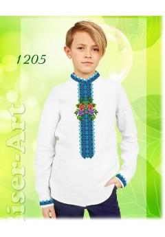 Заготовка для вишивки Хлопчачої сорочки, льон білий (1205)