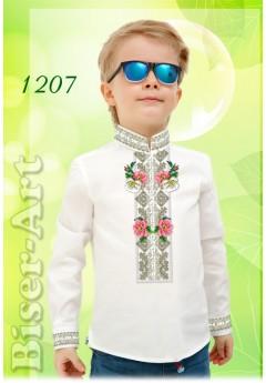 Заготовка для вишивки Хлопчачої сорочки, льон білий (1207)