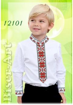 Заготовка для вишивки Хлопчачої сорочки, льон білий (12101)
