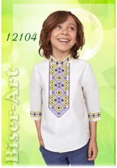 Заготовка для вишивки Хлопчачої сорочки, льон білий (12104)