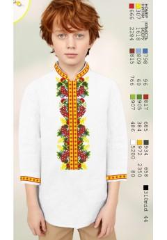 Заготовка для вишивки Хлопчачої сорочки, льон білий (12105)