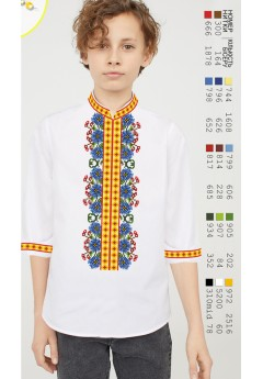 Заготовка для вишивки Хлопчачої сорочки, льон білий (12106)