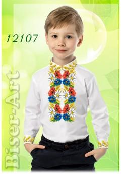 Заготовка для вишивки Хлопчачої сорочки, льон білий (12107)