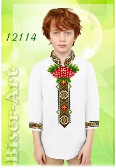 Хлопчача сорочка, білий льон (12114)