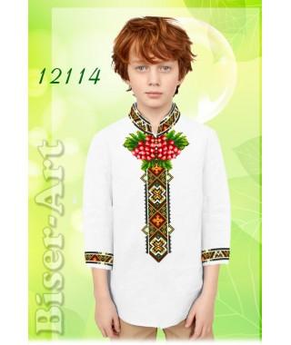 Заготовка для вишивки Хлопчачої сорочки, льон білий (12114)