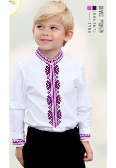 Заготовка для вишивки Хлопчачої сорочки, льон білий (1215)