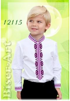 Заготовка для вишивки Хлопчачої сорочки, білий габардин (12115)