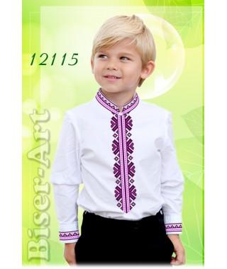 Заготовка для вишивки Хлопчачої сорочки, льон білий (12115)