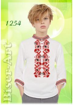 Пошита хлопчача сорочка, білий габардин (11254)