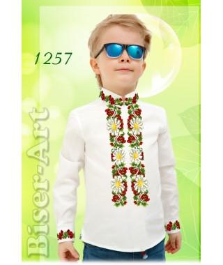 Пошита хлопчача сорочка, білий габардин (11257)