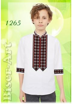 Пошита хлопчача сорочка, білий габардин (11265)