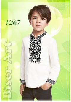 Пошита хлопчача сорочка, білий габардин (11267)