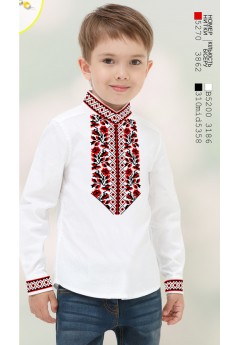 Пошита хлопчача сорочка, білий габардин (11271)