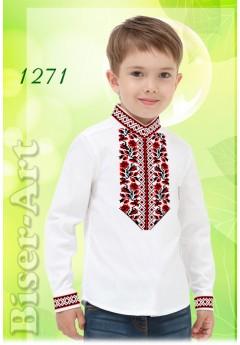 Пошита хлопчача сорочка, льон білий (11271)