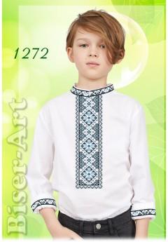 Пошита хлопчача сорочка, льон білий (11272)