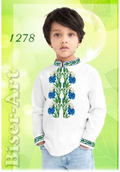Хлопчача сорочка, льон білий (1278)