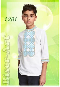 Пошита хлопчача сорочка, білий габардин (11281)