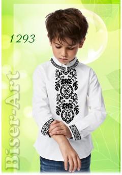 Хлопчача сорочка, льон білий (1293)