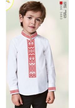 Хлопчача сорочка, льон білий (1295)