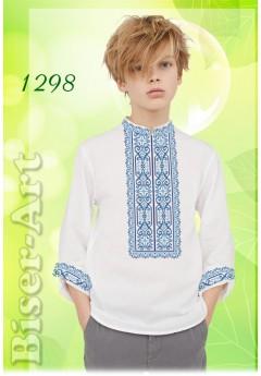 Хлопчача сорочка, льон білий (1298)