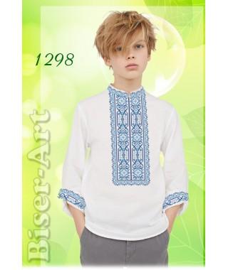 Заготовка для вишивки Хлопчачої сорочки, льон білий (1298)
