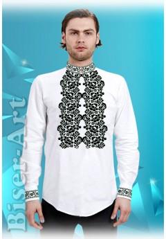 Заготовка для вишивки Чоловічої сорочки, льон білий (15111)