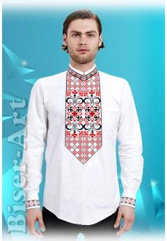 Заготовка для вишивки Чоловічої сорочки, льон білий (1562)