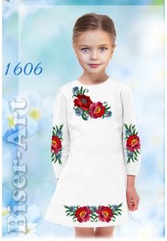 Плаття дитяче, льон білий 1606