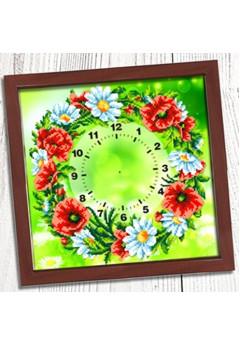 Годинник для вишивки бісером *Польовий вінок* (001)
