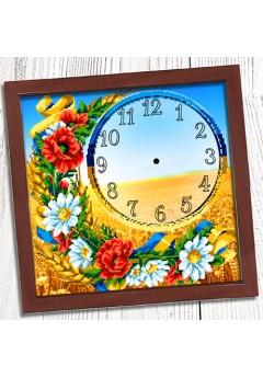 Годинник для вишивки бісером *Українське поле* (002)