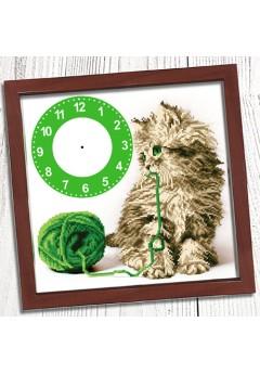 Годинник для вишивки бісером *Кошеня* (004)