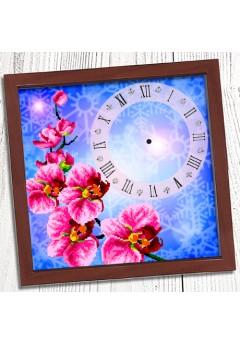 Годинник для вишивки бісером *Орхідея* (010)