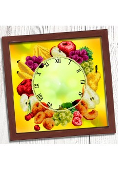 Годинник для вишивки бісером *Букет фруктів* (016)