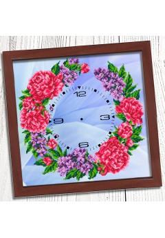 Годинник для вишивки бісером *Півонії* (017)