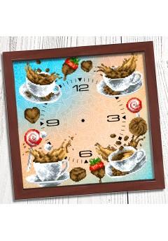 Годинник для вишивки бісером *Кавовий букет* (019)