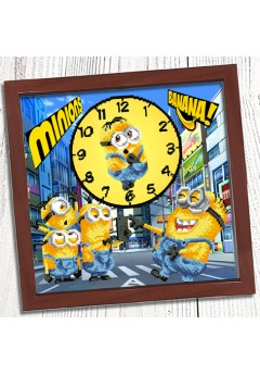 Годинник для вишивки бісером *Міньйони* (023)
