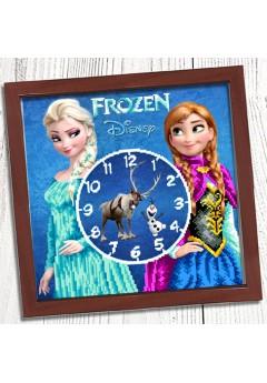 Годинник для вишивки бісером *Холодне серце* (024)
