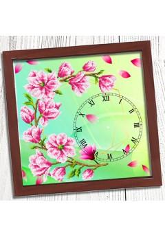 Годинник для вишивки бісером *Магнолія* (026)