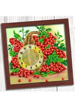 Годинник для вишивки бісером *Кошик калини* (027)