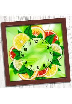 Годинник для вишивки бісером *Грейпфрути* (028)