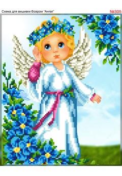 Схема для вишивки бісером (хрестиком) Ангел (305)