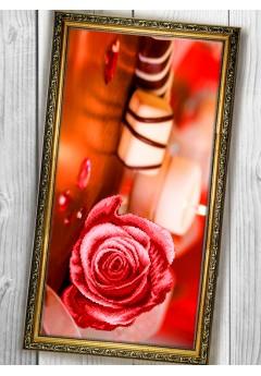 Схема вишивки бісером (хрестиком) «Рожева троянда (011)»