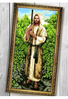 Схема вишивки бісером (хрестиком) «Ісус (087)»