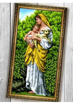 Схема вишивки бісером (хрестиком) «Марія з дитям (088)»