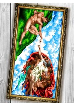 Схема вишивки бісером (хрестиком) «Створення Адама (090)»