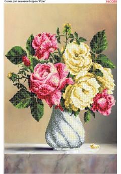 Схема для вишивки *Рози* (3088)