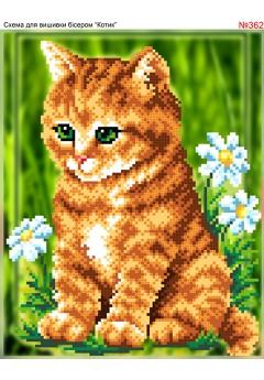Схема вишивки бісером (хрестиком) «Котик (362)»