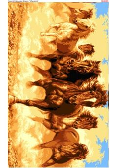 Схема вишивки бісером (хрестиком) Коні (4005)